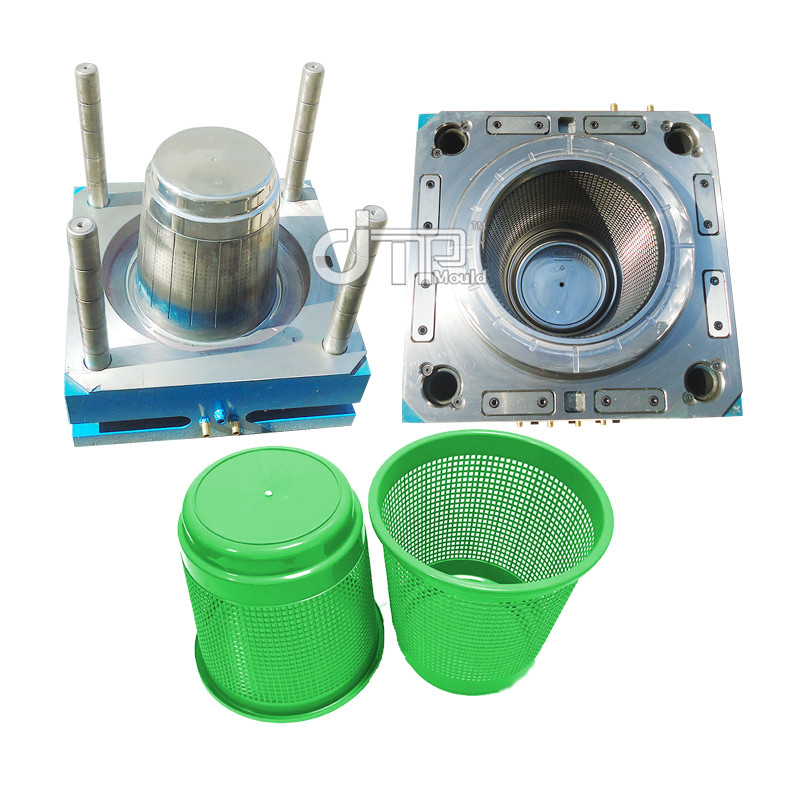 Customized Cold Runner Plastic Garbage Dustbin Basket Mould (JTP-A0025)