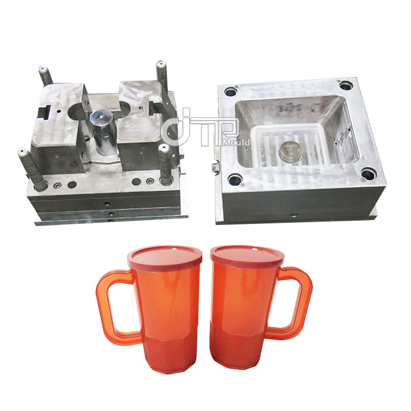 Taizhou Custom 2 Cavities PP Material Plastic Injection Water Cup Mould with Cover (JTP-A0099)