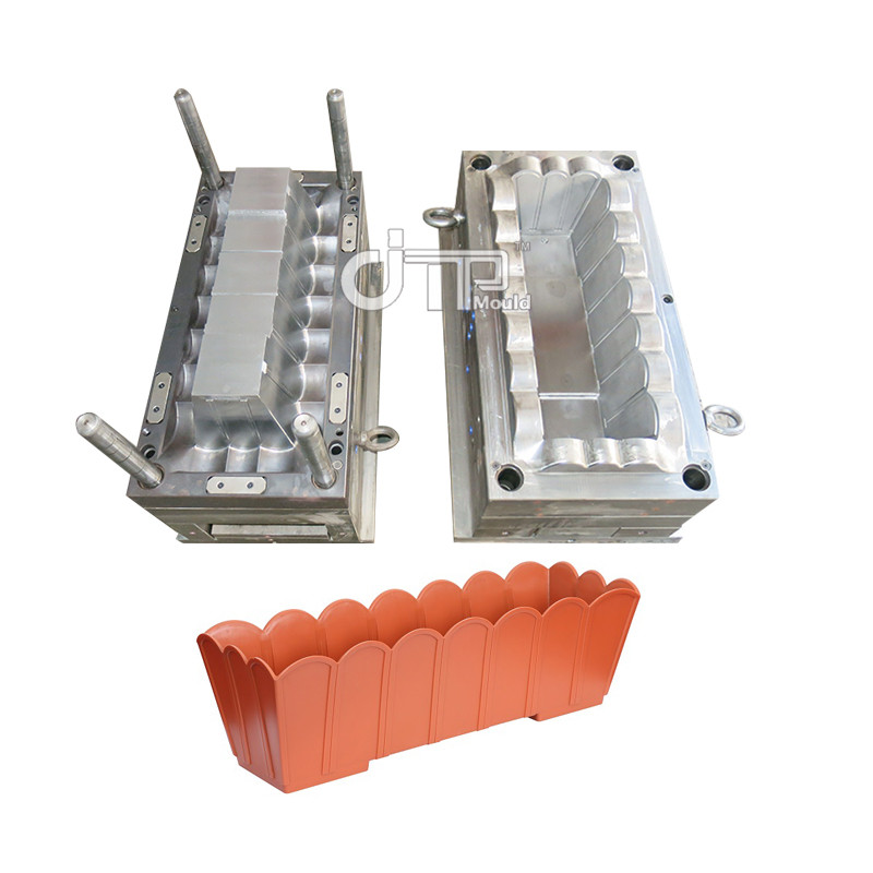 P20 Garden Plastic Flower Pot Injection Mould  Plastic Flowerpot Long Mould (JTP-A0114)