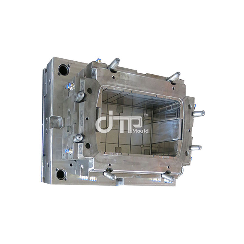 Yellow solid Plastic Crate Mould (JTP-A0054)